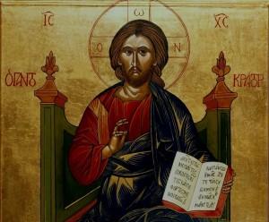 Kristus Pantokrator, ikon malt av sr. Turid Dominika, Lunden Kloster